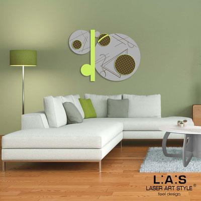 Quadri Astratti </br> Codice: SI-349 | Misura: 125x90 cm </br> Colore: cemento-verde acido-incisione legno