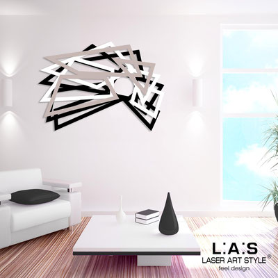 Abstract wall sculptures </br> Code: SI-186 | Size: 140x90 cm </br> Colour: black-white-powder