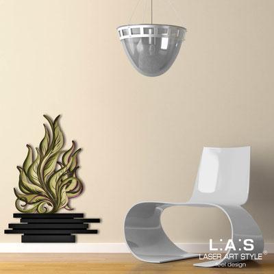 Quadri Floreali </br>  Codice: SI-191-G | Misura: 63x86 cm </br>  Colore: nero-decoro verdone-incisione legno