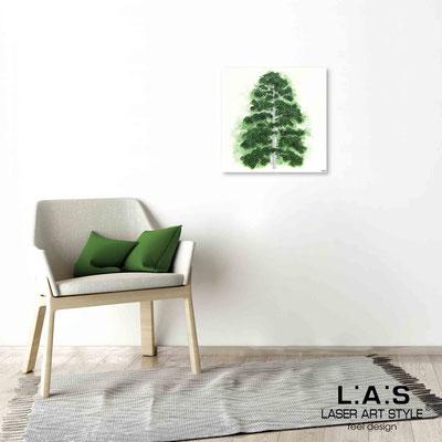 Quarantotto </br>  Codice: Q-004 | Misura: 48x48 cm </br> Colore: decoro verde-incisione legno