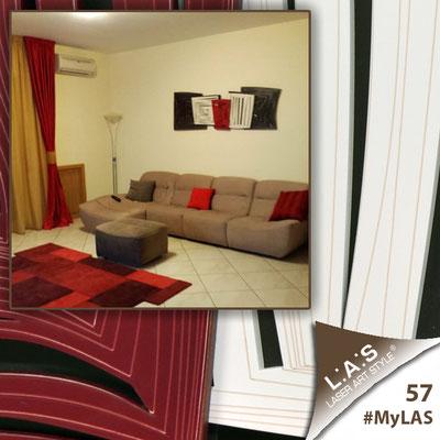 A casa di Raffaele <br> Abitazione privata | Italia </br> Codice: SI-147 | Misura: 180x60 cm <br> **PERSONALIZZATO** Colore: marrone - panna - rosso