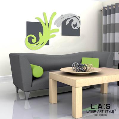 Quadri Astratti </br> Codice: SI-252 | Misura: 150x100 cm </br> Colore: antracite/verde acido-grigio luce