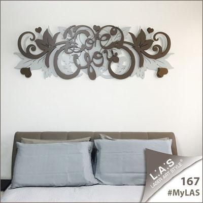 A casa di Catia e Valerio <br> Abitazione privata   Italia </br> Codice: SI-212   Misura: 180x60 cm </br> Colore: grigio luce-grigio marrone-bronzo