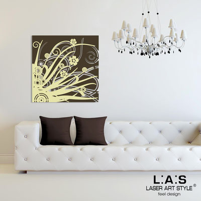 Abstract wall sculptures </br> Code: SI-107Q | Size: 90x90 cm </br> Colour: brown-sand