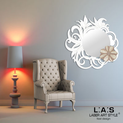Mirrors </br> Code: SI-298 | Size: 95x95 cm </br>  Colour: white-dusty rose decoration-matched engraving
