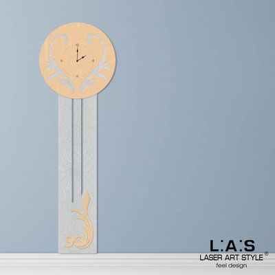 Wall clocks </br> Code: MW-244OR | Size: 60x180 cm </br> Colour: natural wood-silver-wood engraving
