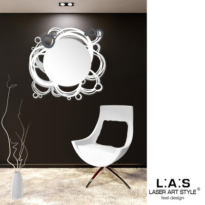 Mirrors </br> Code: SI-204Q-SP | Size: 90x85 cm </br>  Colour: light grey-white-charcoal grey