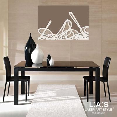 Quadri Astratti </br> Codice: SI-168 | Misura: 150x100 cm </br> Colore: grigio marrone-panna