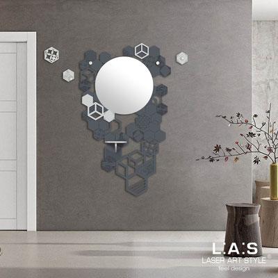 Complementi d'arredo </br> Codice: SI-315 | Misura: 100x150 cm </br> Colore: antracite-grigio luce-incisione tono su tono