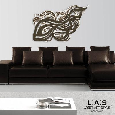 Quadri Astratti </br> Codice: SI-171 | Misura: 150x100 cm </br> Colore: panna-marrone-incisione legno