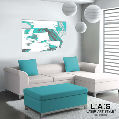 Abstract wall sculptures </br> Code: SI-262 | Size: 150x100 cm </br> Colour: turquoise-white-grey decoration