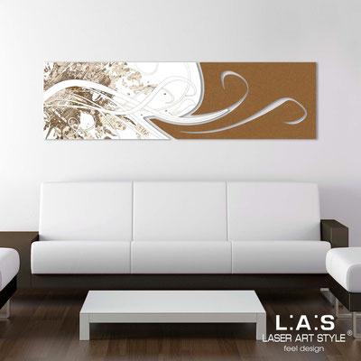 Quadri Astratti </br> Codice: SI-091-B | Misura: 180x58 cm </br> Colore: bianco-bronzo-incisione legno