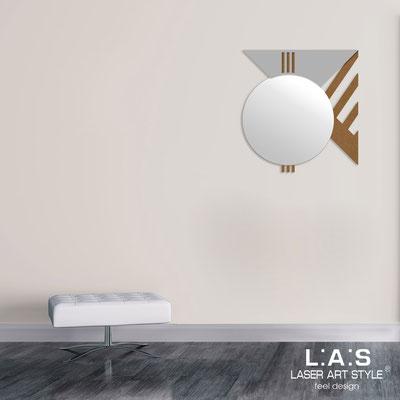 Specchiere </br> Codice: SI-357 | Misura: 70x75 cm </br>  Colore: bronzo-cemento