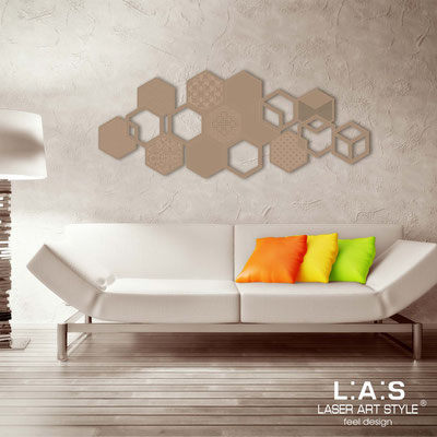 Abstract wall sculptures </br> Code: SI-299 | Size: 150x60 cm </br> Colour: hazel-matched engraving