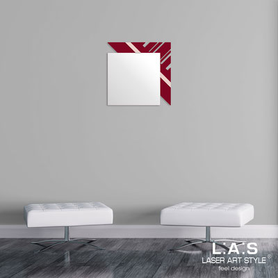 Mirrors </br> Code: SI-358 | Size: 60x60 cm </br>  Colour: burgundy-rosy