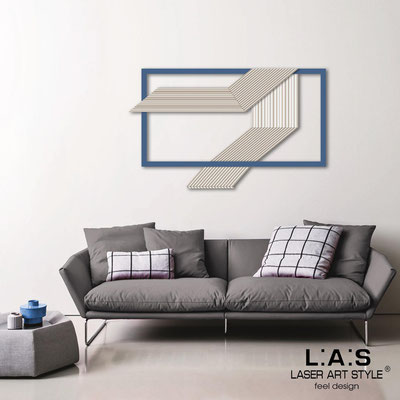 Abstract wall sculptures </br> Code: SI-306 | Size: 120x75 cm </br> Colour: white-denim-wood engraving