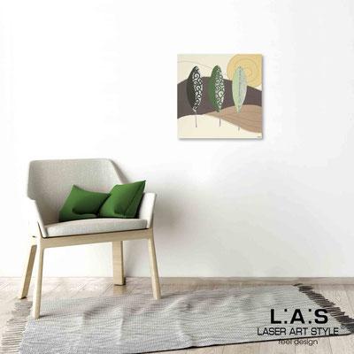 Quarantotto </br>  Codice: Q-015 | Misura: 48x48 cm </br> Colore: decoro verdone-incisione legno