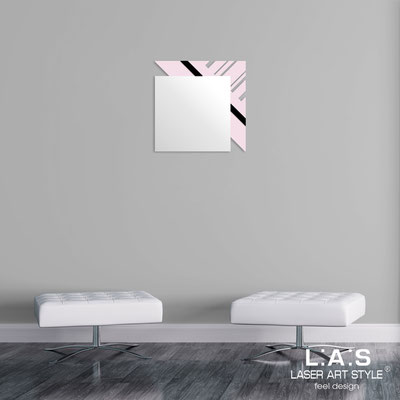 Mirrors </br> Code: SI-358 | Size: 60x60 cm </br>  Colour: light pink-black