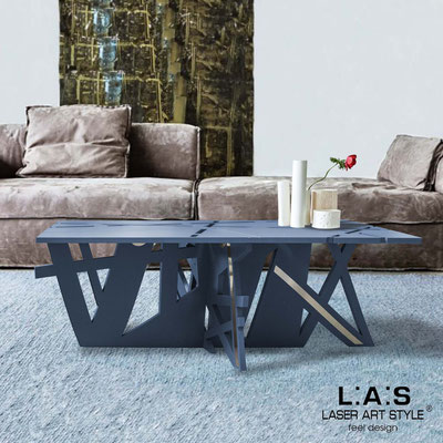 Furnishings </br> Code: SI-295   Size: 100x60 h40 cm </br> Colour: denim-inox steel-matched engraving