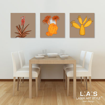 Floral wall sculpture </br> Code: SI-127 | Size: 3pz 45x45 cm/cad </br> Colour: hazel-warm shades decoration-wood engraving
