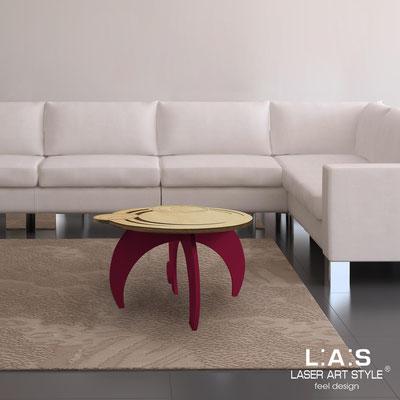 Complementi d'arredo </br> Codice: MW-282 | Misura: 60x60 h40 cm </br> Colore: natural wood-bordeaux-incisione legno