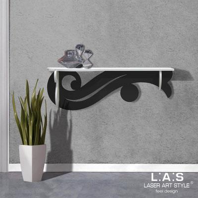 Furnishings </br> Code: SI-285   Size: 110x30 cm </br> Colour: white-black