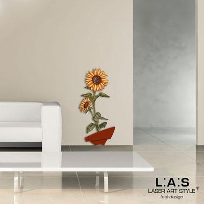 Quadri Floreali </br>  Codice: SI-179-A   Misura: 54x122 cm </br>  Colore: mattone-decoro ruggine-incisione legno