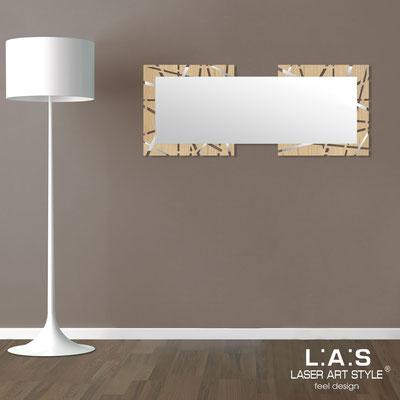 Specchiere </br> Codice: MW-095SP | Misura: 134x54 cm </br>  Colore: natural wood-acciaio inox