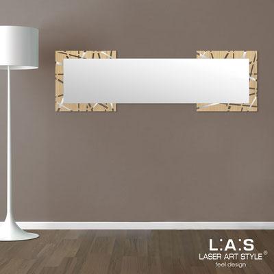 Specchiere </br> Codice: MW-095-SPXL | Misura: 180x60 cm </br>  Colore: natural wood-acciaio inox