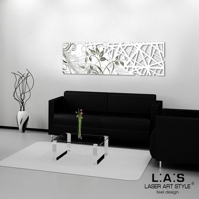 Quadri Astratti </br> Codice: SI-110-B | Misura: 148x50 cm </br> Colore: bianco-incisione nero