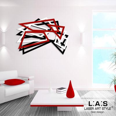 Quadri Astratti </br> Codice: SI-186 | Misura: 140x90 cm </br> Colore: nero-bianco-rosso