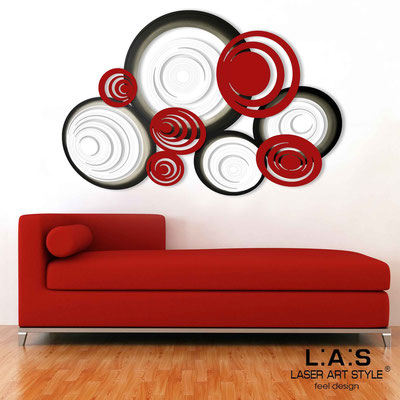 Abstract wall sculptures </br> Code: SI-183 | Size: 150x100 cm </br> Colour: white-red-black decoration-matched engraving