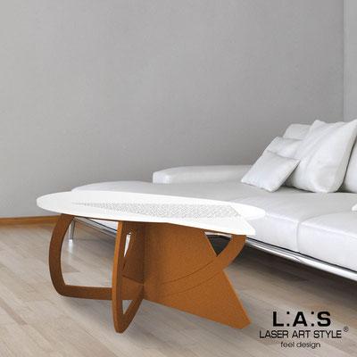 Complementi d'arredo </br> Codice: SI-372 | Misura: 100x60 h50 cm </br> Colore: bianco-rame-incisione legno