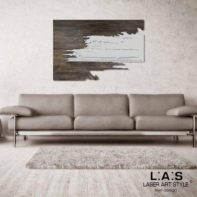 Quadri Astratti </br> Codice: SI-258 | Misura: 150x100 cm </br> Colore: decoro stucco industrial-grigio luce