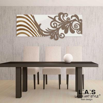 Quadri Astratti </br> Codice: SI-134 | Misura: 150x60 cm </br> Colore: panna-grigio marrone-incisione legno