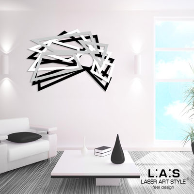 Abstract wall sculptures </br> Code: SI-186 | Size: 140x90 cm </br> Colour: black-white-silver