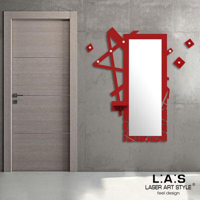 Complementi d'arredo </br> Codice: SI-293 | Misura: 100x150 cm </br> Colore: rosso-acciaio inox-incisione tono su tono