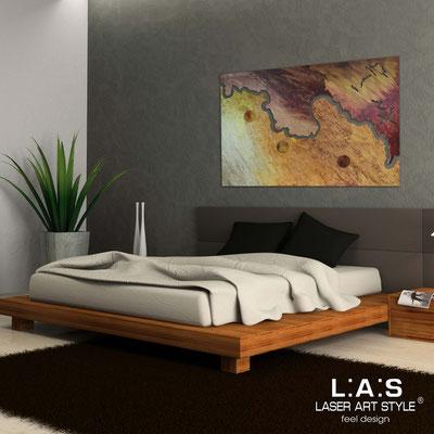Quadri Astratti </br> Codice: SI-257 | Misura: 150x100 cm </br> Colore: decoro stucco toni caldi