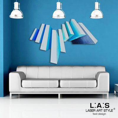 Abstract wall sculptures </br> Code: SI-187 | Size: 150x100 cm </br> Colour: light grey-bluette decoration-wood engraving
