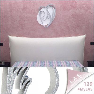 A casa di Giuseppe <br> Abitazione privata   Italia </br> Codice: SI-227L   Misura: 50x65 cm </br> Colore: bianco - argento