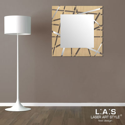 Mirrors </br> Code: MW-095Q-SP | Size: 90x90 cm </br>  Colour: natural wood-inox steel