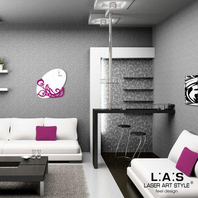 Wall clocks </br> Code: SI-242OR | Size: 68x68 cm </br> Colour: white-crimson