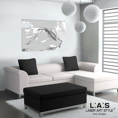 Quadri Astratti </br> Codice: SI-262 | Misura: 150x100 cm </br> Colore: bianco-argento-decoro grigio