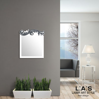Specchiere </br> Codice: SI-319 | Misura: 60x70 cm </br>  Colore: bianco-antracite