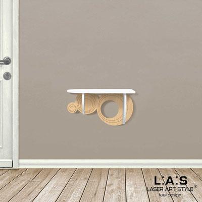 Complementi d'arredo </br> Codice: MW-278 | Misura: 60x30 cm </br> Colore: bianco-natural wood-incisione legno
