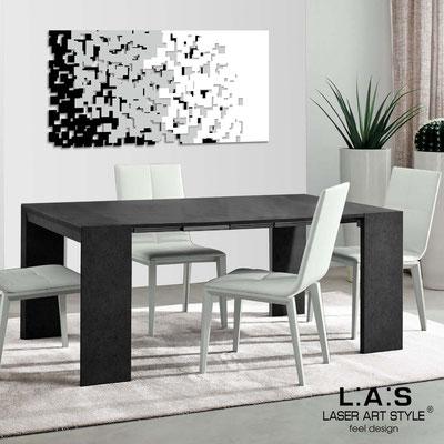 Quadri Astratti </br> Codice: SI-125 | Misura: 150x75 cm </br> Codice: SI-125M | Misura: 100x50 cm  </br> Colore: nero-grigio luce-bianco