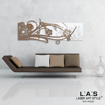 Abstract wall sculptures </br> Code: SI-106 | Size: 148x60 cm </br> Colour: white-dove grey-wood engraving