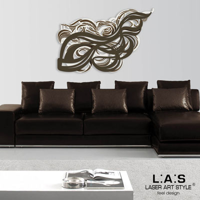 Abstract wall sculptures </br> Code: SI-171 | Size: 150x100 cm </br> Colour: cream-brown-wood engraving