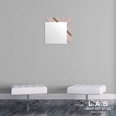 Specchiere </br> Codice: SI-358 | Misura: 60x60 cm </br>  Colore: cipria-grigio marrone