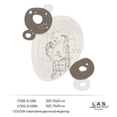News </br>  Code: SI-428L | Size: 55x65 cm </br>  Code: SI-428XL | Size: 75x90 cm </br> Colour: cream-dove grey-wood engraving
